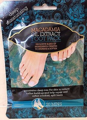 Macadamia Oil Extract Foot Feet Pack Callus Cracked Heel Soften Repair