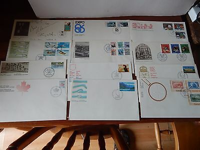 1970-80 Canada Collection Of @ 120 First Day Cover Plain & Illustrated + Extra