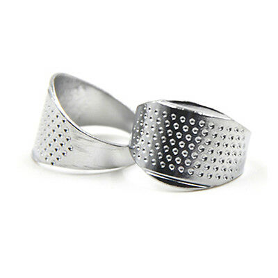 1pc DIY Sewing Tools Silver Ring Thimble Finger Protector Quilting Accessories