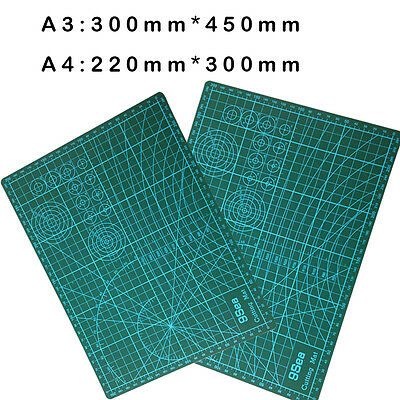 A3/A4 Pvc Rectangle Grid Lines Self Healing Cutting Mat 300mm*450mm/220mm*300mm