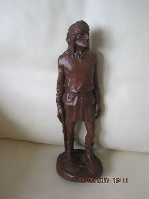 Vintage Native American Indian Figure Wetherbee 1987  Red Mill Mfg Usa