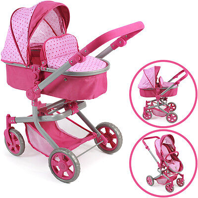 Bayer Chic 2000 Puppenwagen Mika 2in1 (Dots Pink)