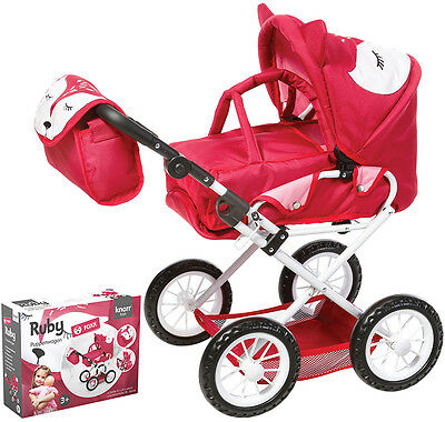 Knorrtoys Puppenwagen Ruby Foxx (Rot-Pink)
