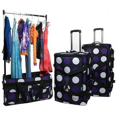 Rac N Roll - Purple Large Dance Suitcase with Polls & Hooks Upto 15 costumes