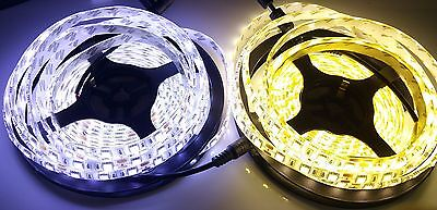 5M 5050 SMD 300 LEDs Waterproof IP65 Strip White/Warm White Controller