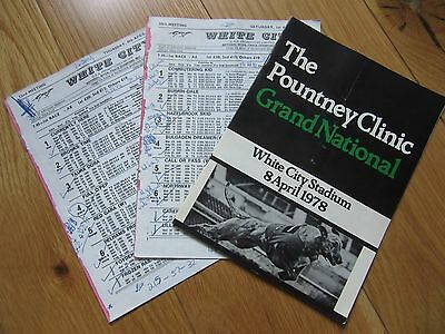 1978 Grand National Heats, Semi Finals And Final Greyhound Racecards White City