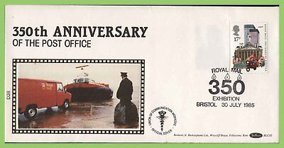 G.B. 1985 350th Anniversary of Post office booklet stamp Benham First Day Cover