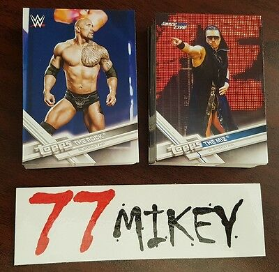 2017 Wwe Topps Trading Cards, Pick Any 5 Cards For $1.50