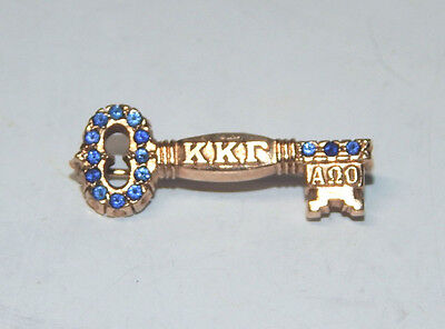 Greek Sorority Pin KKG Delta Delta, 1977, 15 SAPPHIRES in 10K GOLD. 2.8gr