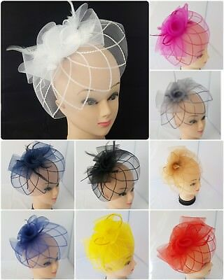 Elegant  Headband and Clip Fascinator Wedding Races Royal Ascot Occasion