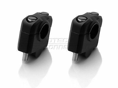 30mm Black Handlebar Risers for motorcycles with 22mm (7/8th) bars SW Motech