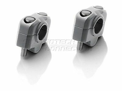 20mm SILVER Handlebar Risers for motorcycles with 22mm (7/8th) bars SW Motech