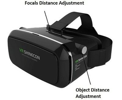 VR Glasses Shinecon Virtual Reality 3D Headset iPhone Game Box Samsung