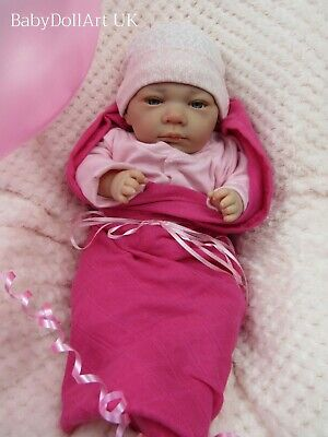 Eyes Open Reborn Baby GIRL Doll by #RebornBabyDollArtUK