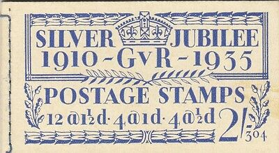 (00067) GB Booklet 1935 Silver Jubilee - ONLY TWO STAMPS REMAINING  SPACE FILLER