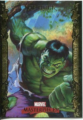 Marvel Masterpieces 2007 UD Gold Border Parallel Base Card #37 The Hulk