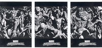 Marvel Masterpieces 2007 Complete Alex Ross Boxtopper Splash Chase Card Set #1-3