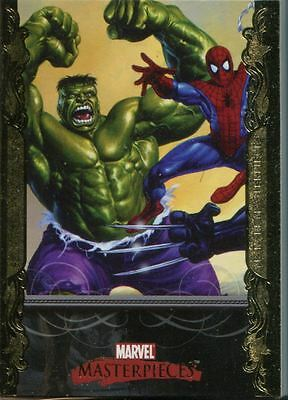 Marvel Masterpieces 2007 Complete 90 Card Gold Parallel Base Set