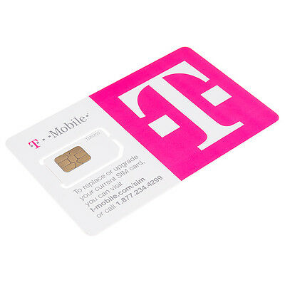 Preloaded T-Mobile Sim with Prepaid plan $45 4GB 4G LTE Free First Month