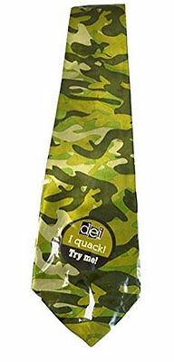 Green Camo Neck Tie New Quacks Like a Duck Camouflage Hunting Mens