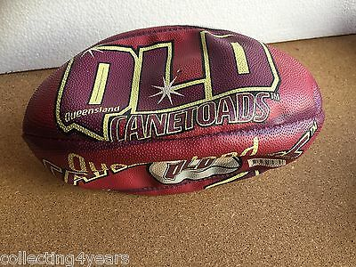 NEW Football QUEENSLAND CANETOADS purple and Yellow 25cms won in comp RARE