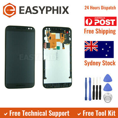 LCD Digitizer Touch Screen Assembly with Frame for Motorola Moto X Style Black