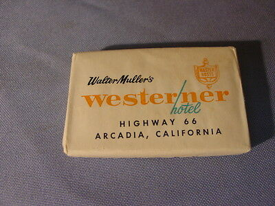 Vintage Westerner & Uplander Hotels Highway 66 California Advertising Soap Bar