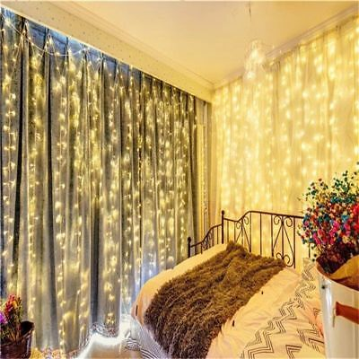 SAA 304 600 LED Icicle String Fairy Curtain Lights Christmas Wedding Waterfall