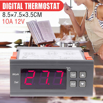 10A 12V Digital Temperature Controller Temp Thermostat Control Relay Sensor New