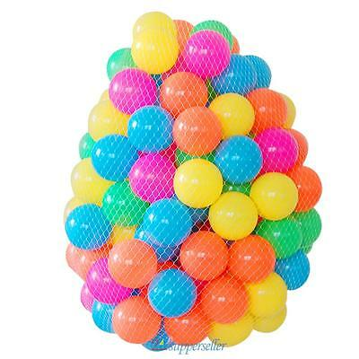 50PCS Ocean Balls Colorful Soft Plastic Balls Baby Kids Toys Swim Pit Game New