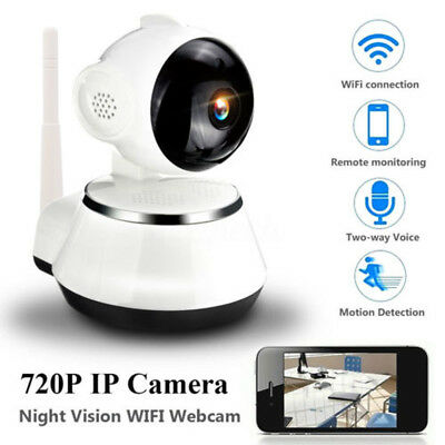 720P HD Wireless IR Night Network Baby Monitor IP Camera P2P WIfi Two-way Audio