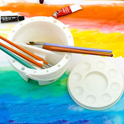 Multifunction Washing Bucket For Watercolor Brush Wash Pen Brush Art Supplies