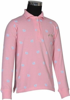 Equine Couture Whale Long Sleeve Polo Shirt