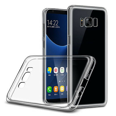 Ultra Slim Clear Transparent Soft TPU Gel Case Cover for Samsung Galaxy S8/Plus