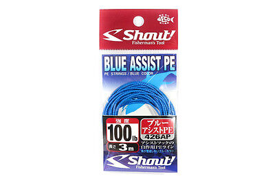 Shout 426-AP Blue Assist P.E Line Assist Rope with Inner Core 3 meters 100LB