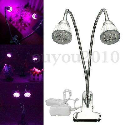 10W LED Grow Light Desk Flexible Clip On Hydro Flower Full Indoor Plant Lamp US