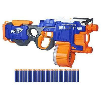 NERF N-Strike Elite Hyper Fire Blaster Rapid 5 Gun Darts Motorised Blasting NEW