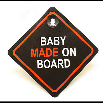 Cute Fun Baby Made On Board Sign Car Window Sign - In Car Decoration - Novelty