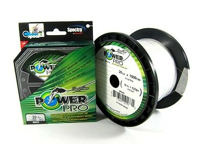 Power Pro Braided Spectra Line 40lb by 150yds White (6714)