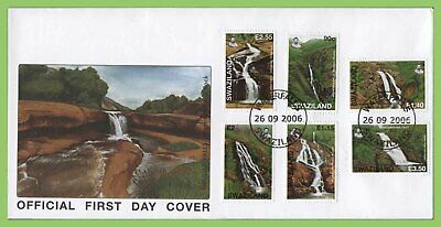 Swaziland 2006 Waterfalls set on First Day Cover