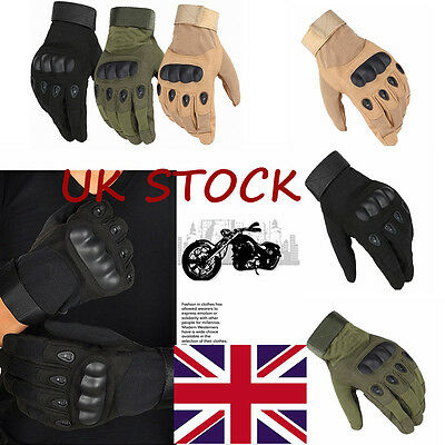 Military Tactical Gloves Airsoft Hard Knuckle Full Finger Motorcycle Shooting