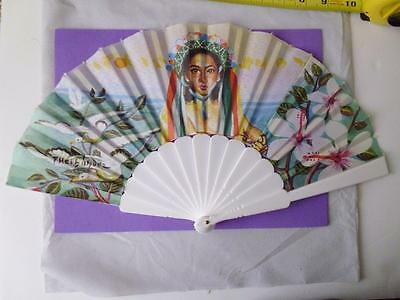 Andalusian Hand Fan Signed Lady in Traditional Costume Made in Spain