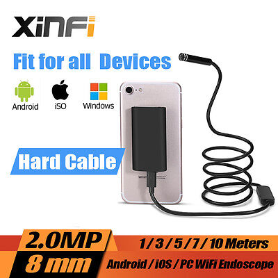 2MP Wifi HD 720P Endoscope 3m Borescope pipe camera Snake Camera for iOS Android