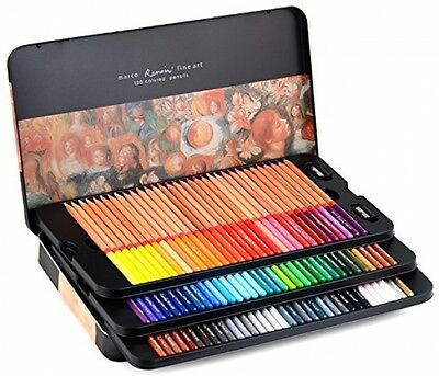 Newdoer Marco Renoir 100 Colors Oil Colour Pencils For Drawing Sketching Artist