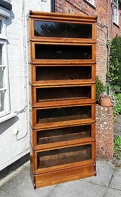 Beautiful Oak Globe Wernicke 7 Stack Bookcase Barristers Sectional. Excellent.