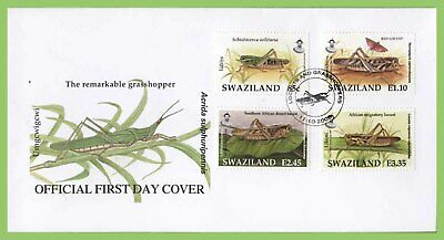 Swaziland 2005 Locusts and Grasshoppers set on First Day Cover