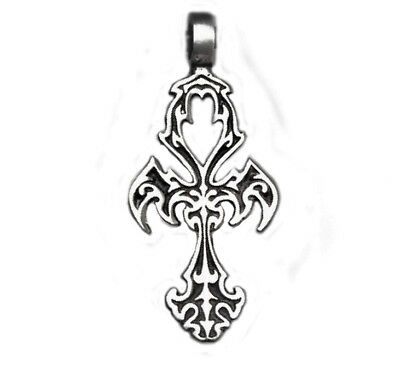 Ankh cross Ancient Egypt Gothic ornaments pendant #28 sterling silver