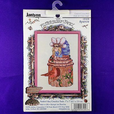 """Janlynn Vintage Counted Cross Stitch Kit """"Sparrow"""""""