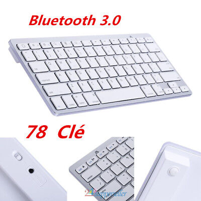 Mini clavier sans fil Bluetooth 3.0 pour Apple iPad Air 4 3 Android Macbook FRA