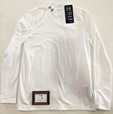 Under Armour Boys Youth Xl Coldgear Evo Fitted Long Sleeve Mock Shirt New Nwt